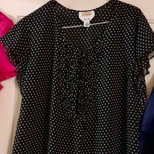 Beautiful on trend polka dot blouse
